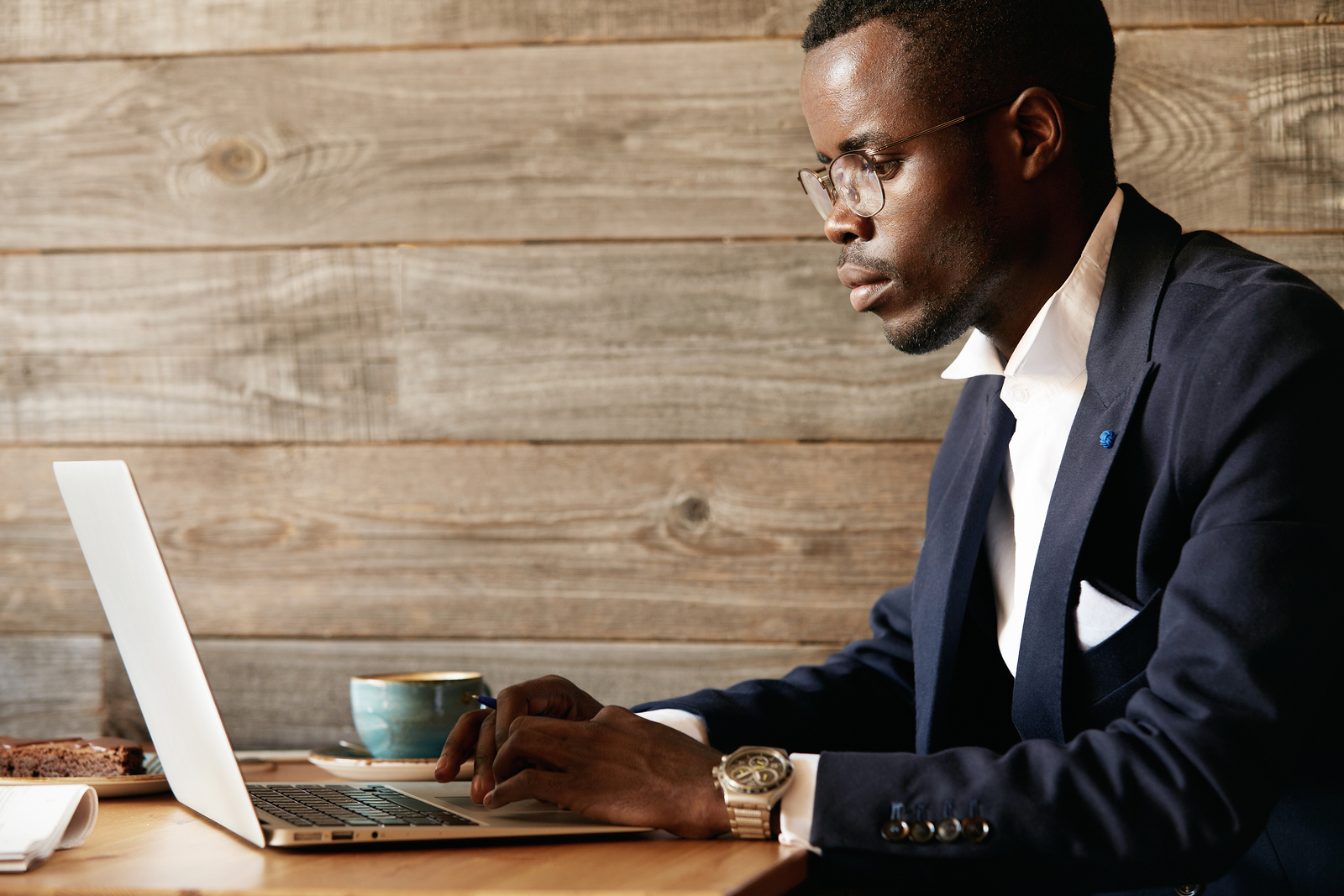 Young man picks a health insurance plan online